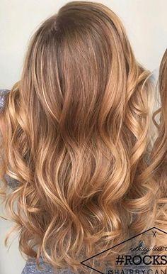 Strawberry blonde hair with blonde balayage