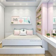 Comfortable Bedroom Ideas 3170554804 Positively lovely tips to make a clearly great diy bedroom ideas for small rooms inspiration Lovely Bedroom decor ideas shared on this imaginative day 20181122 Girl Bedroom Designs, Bedroom Themes, Home Decor Bedroom, Diy Bedroom, Design Bedroom, Small Room Bedroom, Girls Bedroom, Bedroom Ideas For Small Rooms For Girls, Modern Teen Bedrooms