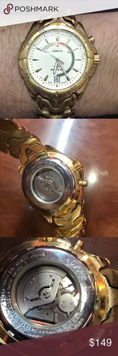 Citizen kinetic energy watch Pre owned watch gold tone. No need battery kinetic energy movement and works great. Citizen Accessories Watches