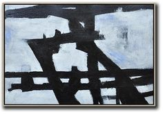 Horizontal Minimalist Art hand painted black and white art minimal painting on canvas by CZ Art Design Perfect choice for modern and contemporary home. Minimalist Painting, Minimalist Art, White Art, Black And White, Large Black, 3d Street Art, Drip Painting, Minimalism, Original Paintings