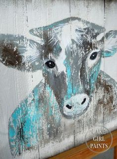 how to paint rustic cow art, crafts, dining room ideas, how to, painting Farmhouse Wall Art, Farmhouse Style, Farmhouse Ideas, Elephant Wall Art, Cow Painting, Cow Art, Happy Art, Pallet Art, Barn Quilts