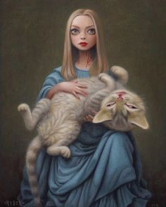 ALICE IN WONDERLAND BY MARK RYDEN. Art style DIY inspiration. Please choose cruelty free vegan art supplies