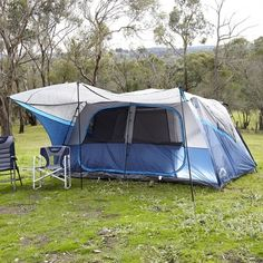 Spinifex Daintree Instant Up 10 Person Tent Blue u0026 Silver & Great Bear GBPL-4380 4 man dome tent | Glamping | Pinterest | Dome ...