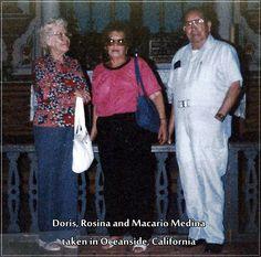 Doris, Rosina and Macario Medina, taken in Oceanside, Calif. Photo contributed by Junior (J.D.) Medina.