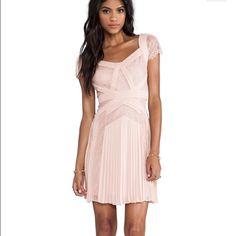 BCBG Aris Pleated Dress in Blush Pink Aris Pleated and Lace Dress in Baby pink blush color  BCBGMaxAzria Dresses