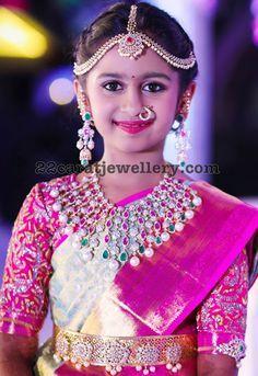 Swathi Reddy Half Saree Function - Jewellery Designs