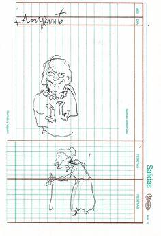 """Apunte: Gent 081   Apunte  """"Gent 081""""  Gente 081  Bolígrafo sobre papel  153 x 105 cm  2004  Bilbao  apunte: gente libro 2004-01 / 2004-06"""
