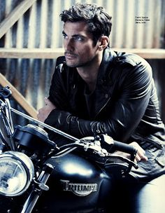 David Gandy: Leathers and cycle