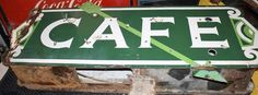 OLD EARLY CAFE PORCELAIN NEON 2 SIDED WITH ARROW FEDERAL SIGN GAS & OIL LOOK