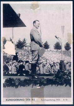 "Description Nuremberg party rally 1935 ""Announcement of the HJ. Nuremberg party rally 1935"", publisher Intra, nuremberg"