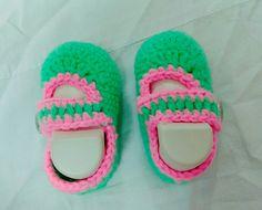 Crochet#shoe#green