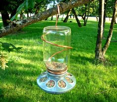 Bird Feeder - If you click on the picture, it will take you to a site selling these for $24.50. Please just go to Tractor Supply and get the chicken feeder base for $3.99 and add your own mason jar.  Who doesn't have an extra jar anyway?