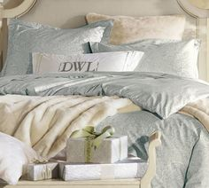 Dolly 350-Thread-Count Organic Duvet Cover & Sham | Pottery Barn
