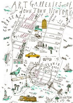 Downtown New York Art gallery map | A map for Jetsetter duri… | Flickr