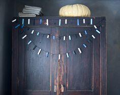 DIY masking tape garlands, demonstrated by Marlen in her Teip shop in Estonia