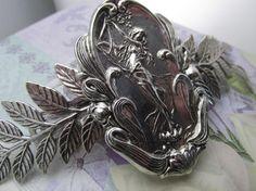 Alphonse Mucha Style Hair barrette French Hair clip Art