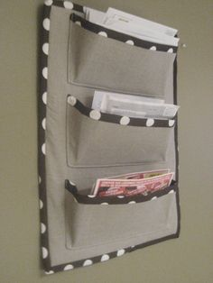 fabric mail sorter or letter holder (link broken, but could wing this one)