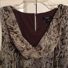 MSK Snake Print Dress Light and airy snake print dress with tie around the waist. Like new condition and perfect for spring! MSK Dresses