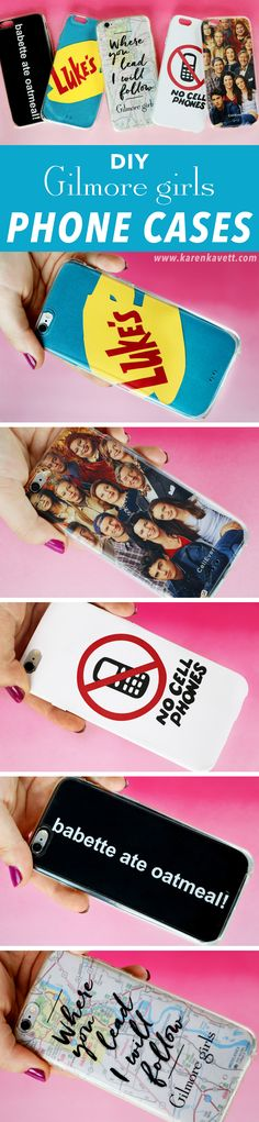 5 DIY Gilmore Girls Phone Cases & Free Printables | @karenkavett