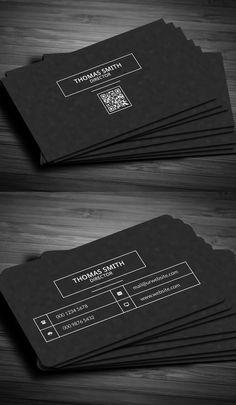 51 new professional business card psd templates construction modern dark pixels business card reheart Gallery