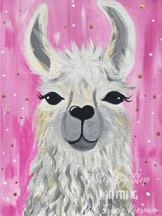 Llama Painting - Easy - Step By Step Acrylic TutorialYou can find Painting canvas crafts and more on our website.Llama Painting - Easy - Step By Step Acrylic Tutorial Cute Canvas Paintings, Canvas Painting Tutorials, Simple Acrylic Paintings, Acrylic Painting For Beginners, Step By Step Painting, Easy Paintings, Animal Paintings, Painting Techniques, Diy Canvas Art