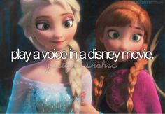 This would just make my life complete!) Oh how I wish that I could play Elsa or Anna in a play as well! Just Girly Things, Things I Want, Bucket List For Girls, And So It Begins, All I Ever Wanted, Face Characters, Before I Die, The Villain, Princesas Disney