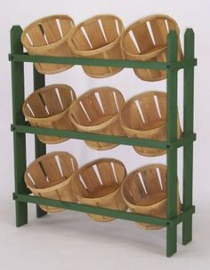 Shelf for Baskets- Looks easy to build...add wheels.