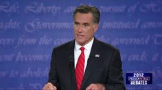DEBATE QUOTE: Romney – 'Mr. President, You're Entitled to Your Own Airplane, Your Own House, But Not Your Own Facts' Mitt Romney jabbed the president Wednesday night, crying foul to Obama's claims that Romney would cut education funding.