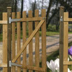 Gartentor aus Holz bauen scharniere montieren