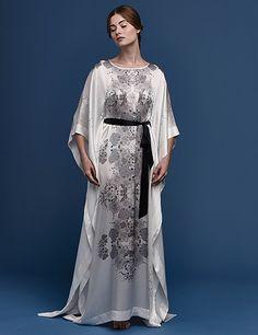 Explore our range of beautiful silk lounge kimonos, dresses and kaftans. Satin Gown, Satin Dresses, Silk Satin, Flapper Dresses, Kimono Dress, Silk Dress, Kimono Fashion, Fashion Outfits, Satin Dressing Gown