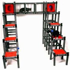 The Cat Castle - The Cat Castle will surely provide your pet cats with endless exercise and entertainment. It is actually the largest cat activity center ever made....