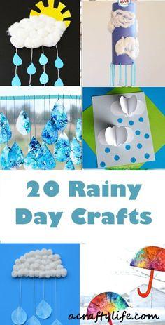 rainy day crafts for kids #kidscrafts #artsandcraftsforkids #preschool