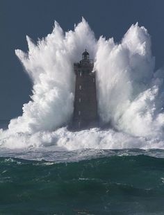 Wave Bigger Than The Lighthouse It's Hitting #Photography #Breathtaking