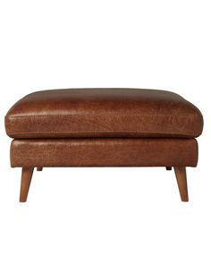 Casaroma Hendrix Square Ottoman, Cognac product photo