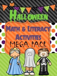 Cute activities! Perfect for the month of October. Includes math, literacy, writing prompts and more! Love this bundle!