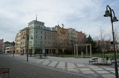 The renovated Krnov centrum. It didn't look like that in 1993.