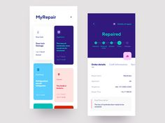 Apartment Repair designed by Jih for Tunan. Connect with them on Dribbble; the global community for designers and creative professionals. Ui Design Mobile, Web Ui Design, Graphic Design, Ui Buttons, Card Ui, Identity, Apps, App Design Inspiration, Branding