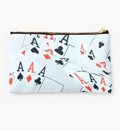 Aces In A Layered Composition Studio Pouch