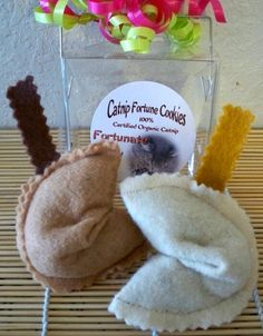 Give your cat some good luck with these fortune cookie catnip toys.