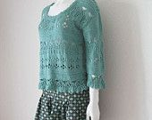 Lacy hand knitted top/camisole