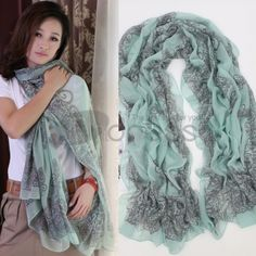 Wool Scarves-Ladies fashion Bali yarn scarves in autumn and winter