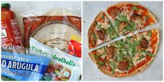 5 Easy Trader Joe's Meals ingredients or less!) – My Everyday Table 5 Easy Trader Joe's Meals ingredients or less!) – My Everyday Table Trader Joes Turkey Meatballs, Meatball Pizza, Tortilla Pizza, Make Your Own Pizza, Healthy Tacos, Food Science, Skinny Recipes, Tortillas, Food Hacks
