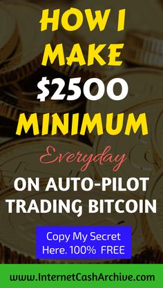 Looking to make INCREDIBLE money online today for real? Try trading BITCOIN like PRO does! Model exactly my proven Formula in my FREE Report which reveals hidden method and system to earn and withdraw Over $2500 (0.3+ BTC) daily profit on complete auto-pilot passively.  No risk, No trading experience needed. No brainer.