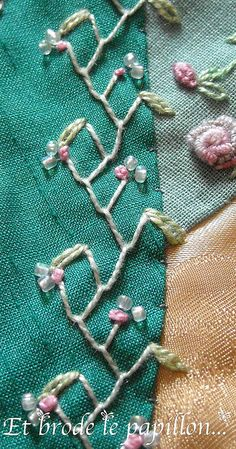 I ❤ embroidery . . . Ati's block details