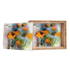 #Abstract #Autumn #Impression @denydesigns Ginette Fine Art Abstract Autumn Impression Jewelry Box | DENY Designs Home Accessories
