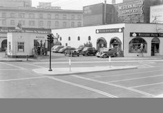 From Vintage Portland, 1939.  This was taken at 10th & West Burnside.