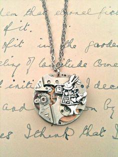Alice+in+Wonderland+White+Rabbit+&+1930's+Watch+by+forageandfinduk,+$20.00