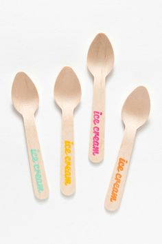 Sucre Shop Ice Cream Spoons available at Ice Cream Stand, Ice Cream Spoon, Ice Cream Party, Cookie Dough, Biodegradable Products, Party Planning, Party Time, Sweet Treats, Artisan