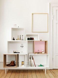 Organizando tudo com estantes