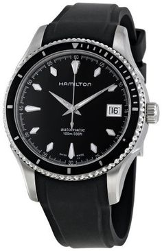 Hamilton Women's H37415331 Seaview Black Dial Watch Hamilton. $537.00. Stainless steel watch. Durable sapphire crystal protects watch from scratches,. Water-resistant to 100 meters (330 feet). Case diameter: 37 mm. Automatic movement